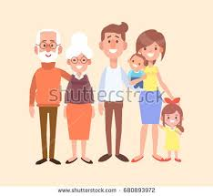 family characters creation set grandfather grandmother stock