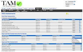 risk assessment template on the action manager the health and
