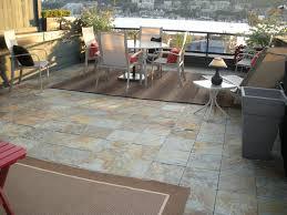 interlocking slate deck tiles on patio modern patio seattle