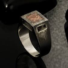 rustic mens wedding bands rustic mens ring unique men s ring signet ring mens
