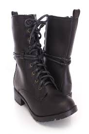 lace up motorcycle boots black lace up wrap around boots faux leather