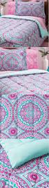 cynthia rowley girls bedding kids bedding pink purple aqua 11 pc full microfiber comforter set