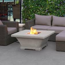 Outdoor Gas Fire Pit Real Flame Baltic 36 In Square Propane Gas Outdoor Fire Pit In