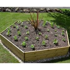 greena hexagonal raised bed garden street