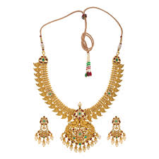 set of gold buy pearl gold sets online from krishna pearls and jewellers