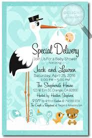stork baby shower custom baby shower invitations