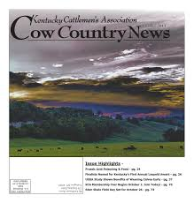 cow country news october 2013 by the kentucky cattlemen u0027s