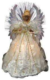 lighted new year angel tree topper precious moments tree angel