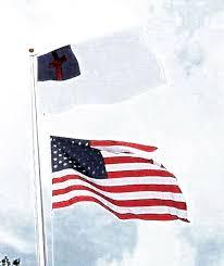 Christian Flag Images Pastor Raises Christian Flag Over U0027old Glory U0027