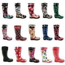 womens boots size 8 womens wellies flat welly wellingtons knee high