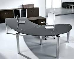 Curved Office Desk Curved Glass Desk Bethebridge Co