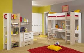 Bedroom  Modern Simple Desk Bunk Bed Space Saving Combine Grey - Space saving bedrooms modern design ideas
