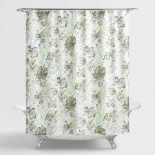 Flower Drop Shower Curtain Shower Curtains U0026 Shower Curtain Rings World Market