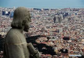 barcelona city view city view of barcelona spain xinhua english news cn