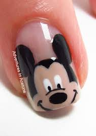 mickey mouse nail art design nail designs mickey and minnie mouse