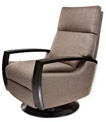 Swivel Glider Chair With Ottoman Furniture Modern Grey Fabric Swivel Recliner Chair With Black