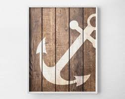 nautical decor nautical anchor wall print poster decor nautical