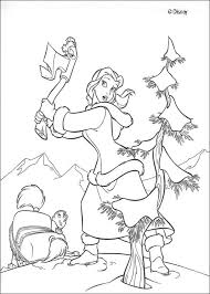 belle axe coloring pages hellokids