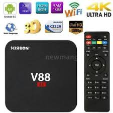 smart android v88 hd android 6 0 smart tv box rk3229 4k 8gb wifi h 265