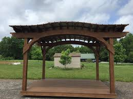 Metal Pergolas With Canopy by 8 10 Painted Arch Pergola With Roof Tennessee Pergolas Playsets
