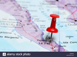 Map Of La Paz Mexico by La Paz Pinned On A Map Of Mexico Stock Photo Royalty Free Image
