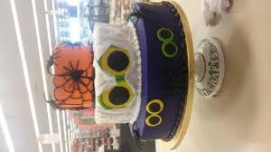 halloween three tiered cake my cakes pinterest halloween