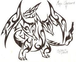 tribal mega charizard ex pokemon coloring pages images pokemon