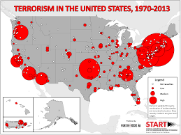 The Usa Map What Does Four Decades Of Terrorism In The U S Look Like War
