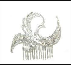 browne st tropez iii art deco vintage wedding hair comb ca110 art