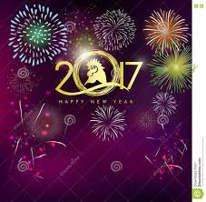 happy new year s greeting cards happy new year greeting card 2017 with gold stock vector