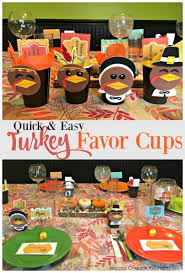 favor cups easy turkey favor cups second chance to