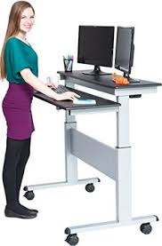 stand up l with shelves herman miller s renew sit to stand tables would be nice for the