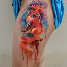30 watercolor fox tattoo designs amazing tattoo ideas