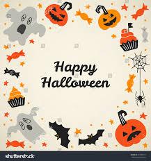 greeting card hand drawn cartoon halloween stock vector 313938173