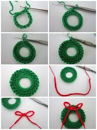 lacy crochet mini christmas wreath free pattern