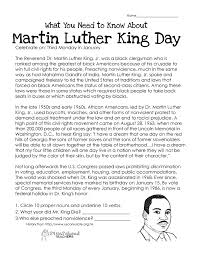 martin luther king day worksheets free worksheets library