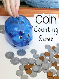 coin counting game for kids still playing