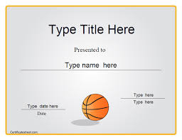 8 best images of basketball award certificate template free