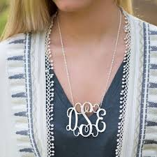 Monogrammed Necklace Sterling Silver 239 Best Monogram Jewelry Images On Pinterest Monogram Jewelry
