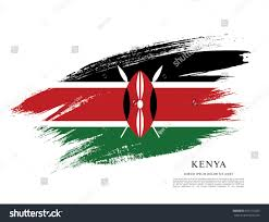 Flag Of Kenya Flag Kenya Brush Stroke Background Stock Vector 655172953