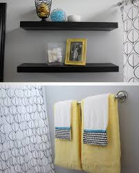 Bathroom Towel Decorating Ideas by Yellow Gray Bathroom Bathroom Decor