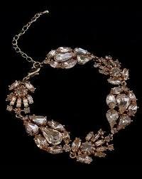 rose gold crystal bracelet images Bridal bracelet viva crystal bracelet rose gold by stephanie jpg