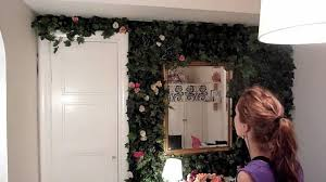 indoor rose garden my flower wall youtube