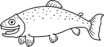 little happy cartoon fish coloring page sheet wecoloringpage