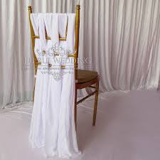 chair sashes 10pcs white chair sashes for weddings lace chiffon chair cover