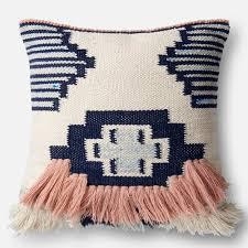 Ideas Unique Pattern Loloi Magnolia Home Pillow Navy Pink Loloi