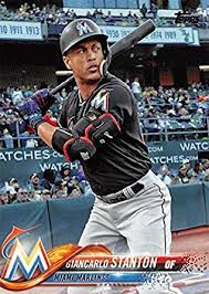 giancarlo stanton marlins jpg amazon com 2018 topps 100 giancarlo stanton miami marlins baseball