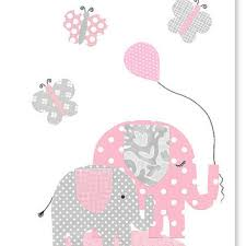 Pink Elephant Nursery Decor Best Pink Polka Dot Elephant Products On Wanelo
