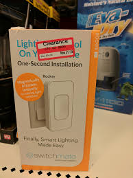 switchmate toggle smart light switch switchmate smart light magnetic toggle switch target b m ymmv