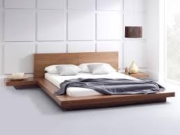 Modern Super King Size Bed Walnut Platform Bed Surripui Net